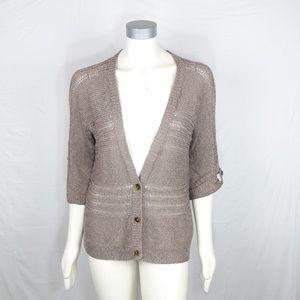 J. Jill Deep V Neck Cardigan Sweater